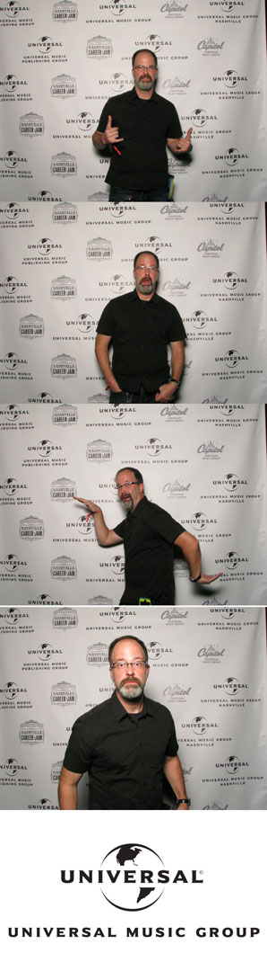 Jason Coleman in the UMG Photo booth
